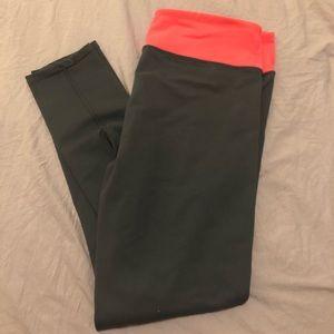 Grey and pink Fabletics yoga pants / leggings